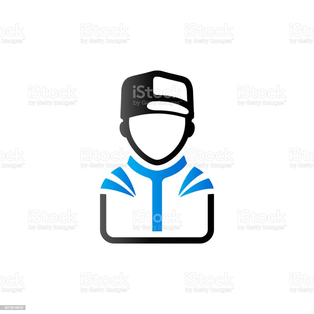Duo Tone Icon - Racer avatar vector art illustration