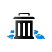 Duo Tone Icon - Trash bin