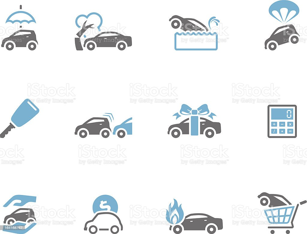 Duo Tone Icons - Auto Insurance vector art illustration