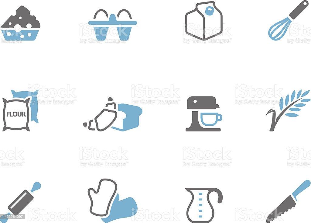 Duo Tone Icons - Baking royalty-free stock vector art