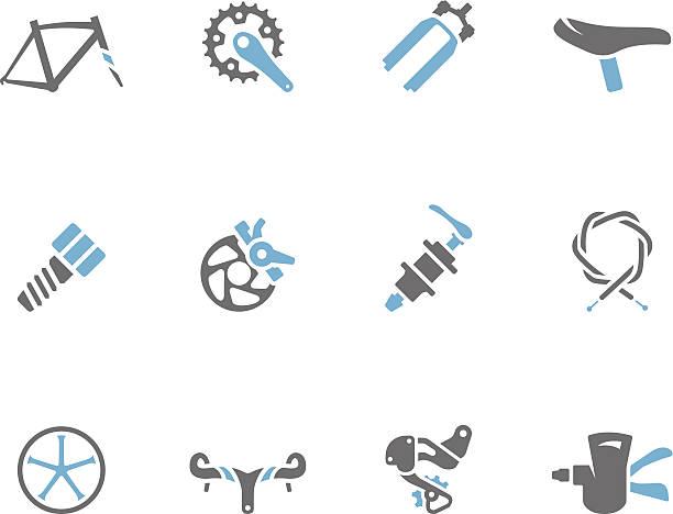 ilustraciones, imágenes clip art, dibujos animados e iconos de stock de dúo tono iconos-bicicleta piezas - pedal