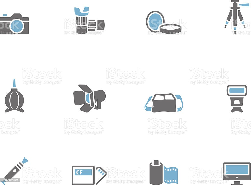 Duo Tone Icons - Photography royalty-free stock vector art