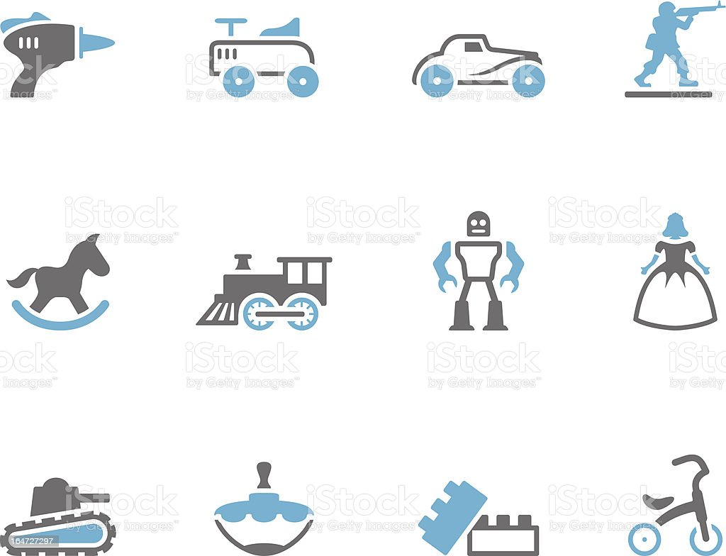 Duo Tone Icons - Toys royalty-free stock vector art
