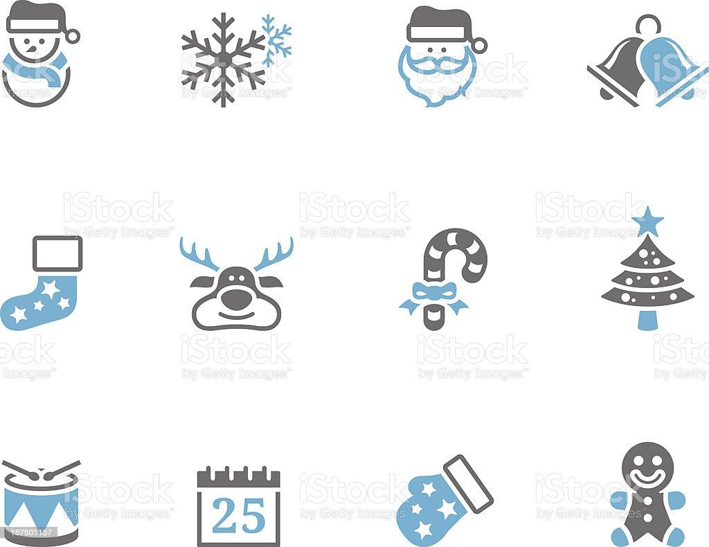 Duotone Icons - Christmas royalty-free stock vector art
