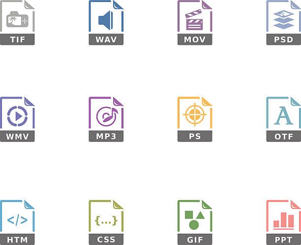 Duotone Icons - File Formats 13vectorkunst illustratie
