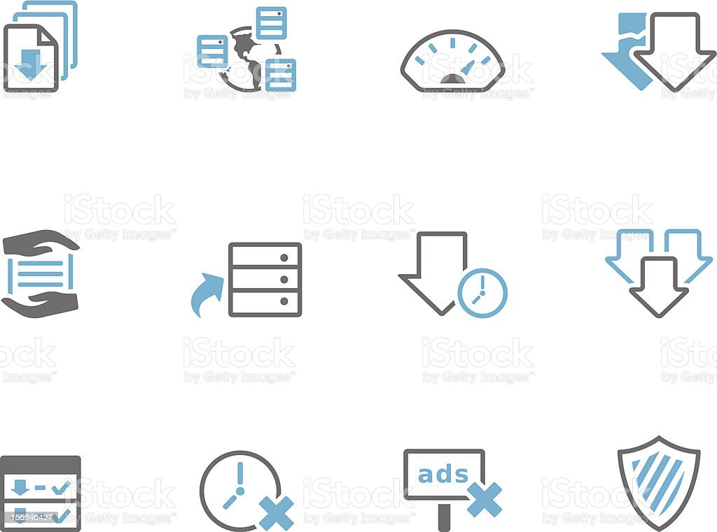 Duotone Icons - File Sharing vector art illustration