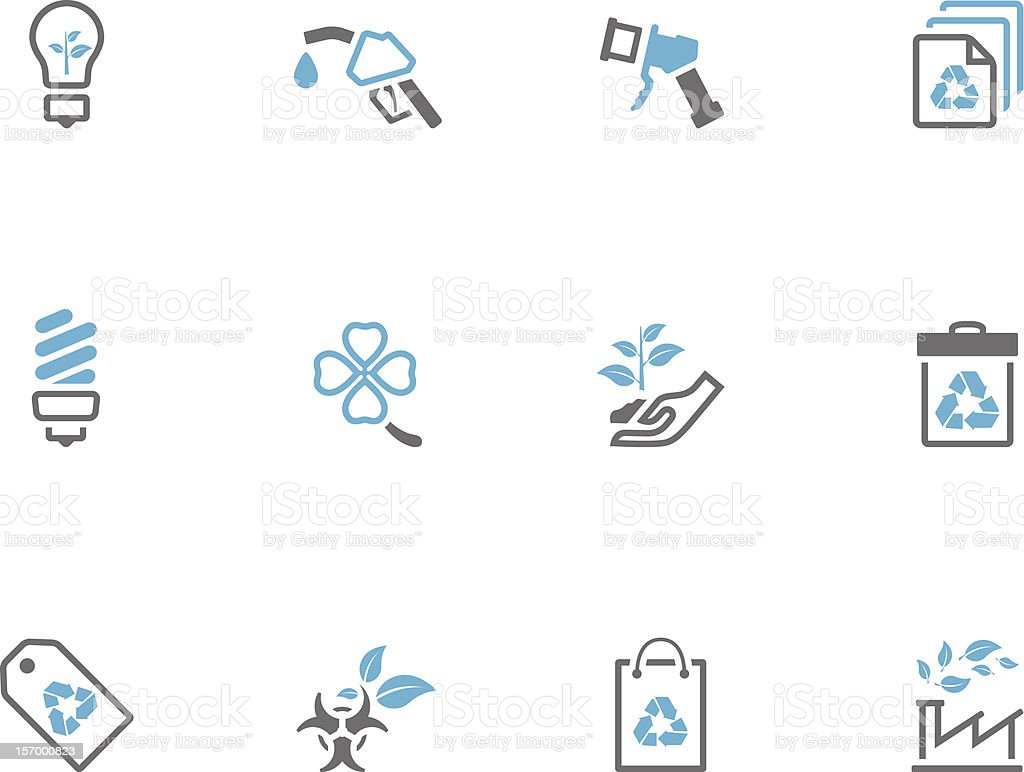 Duotone Icons - More Environment royalty-free stock vector art