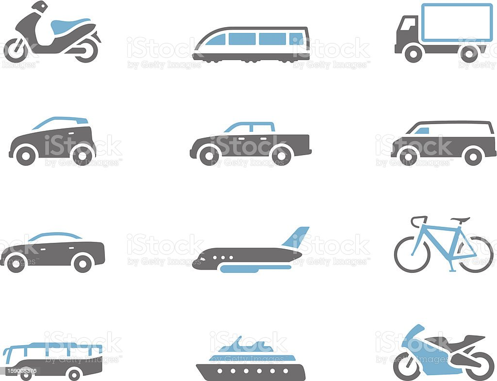 Duotone Icons - Transportation royalty-free stock vector art