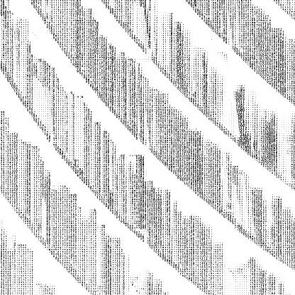 Duotone image of bookshelf, made of alphabet text