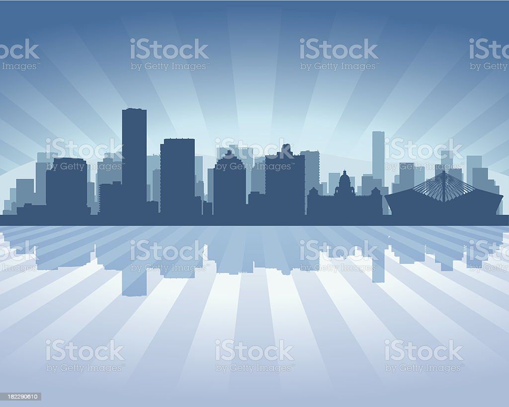Durban South Africa Blue City skyline silhouette royalty-free durban south africa blue city skyline silhouette stock vector art & more images of architecture