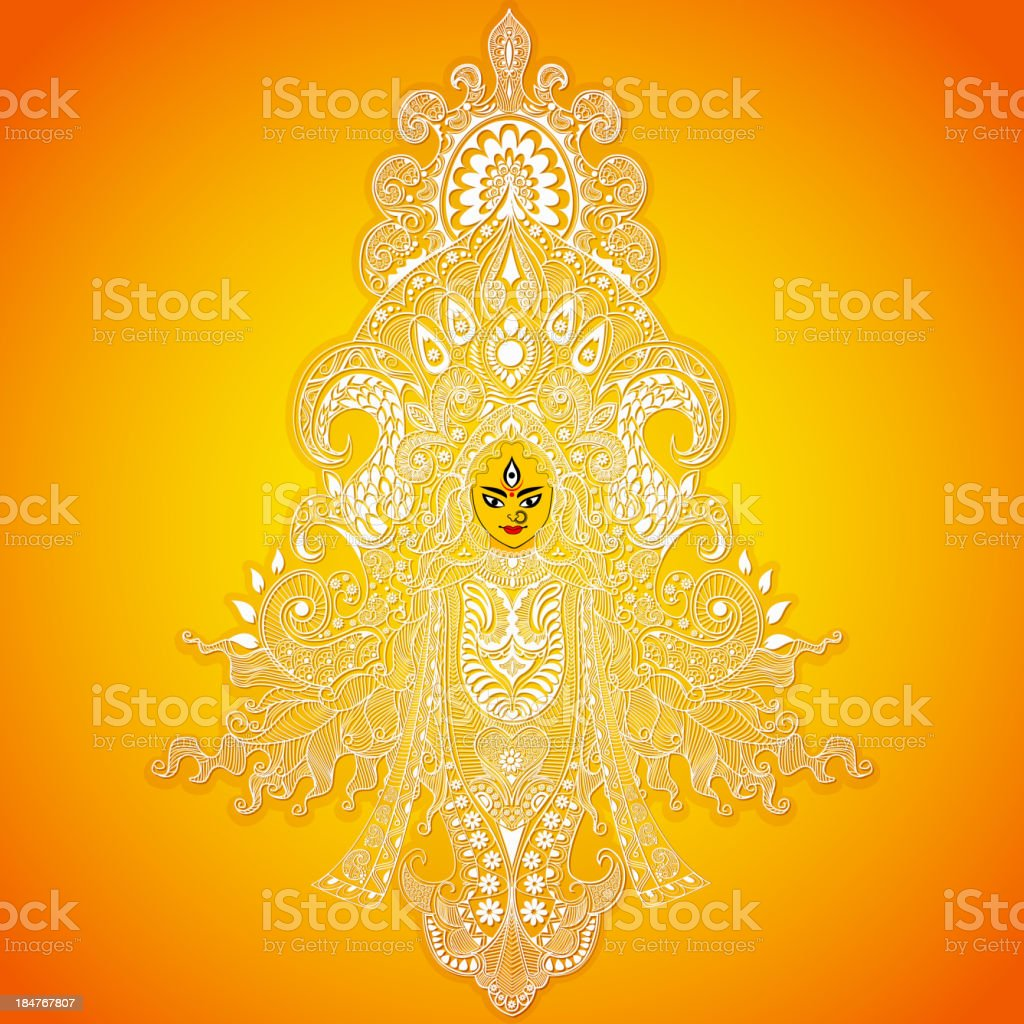 Durga Puja royalty-free stock vector art