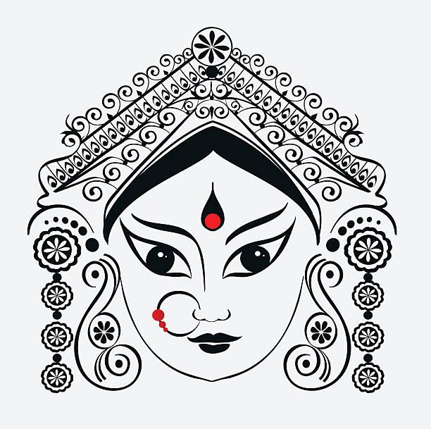 Royalty Free Durga Puja Clip Art, Vector Images