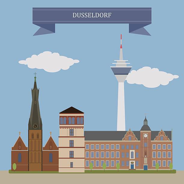 düsseldorf, deutschland - düsseldorf stock-grafiken, -clipart, -cartoons und -symbole