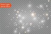 透明 background.bright 星にほこり。グロー照明効果