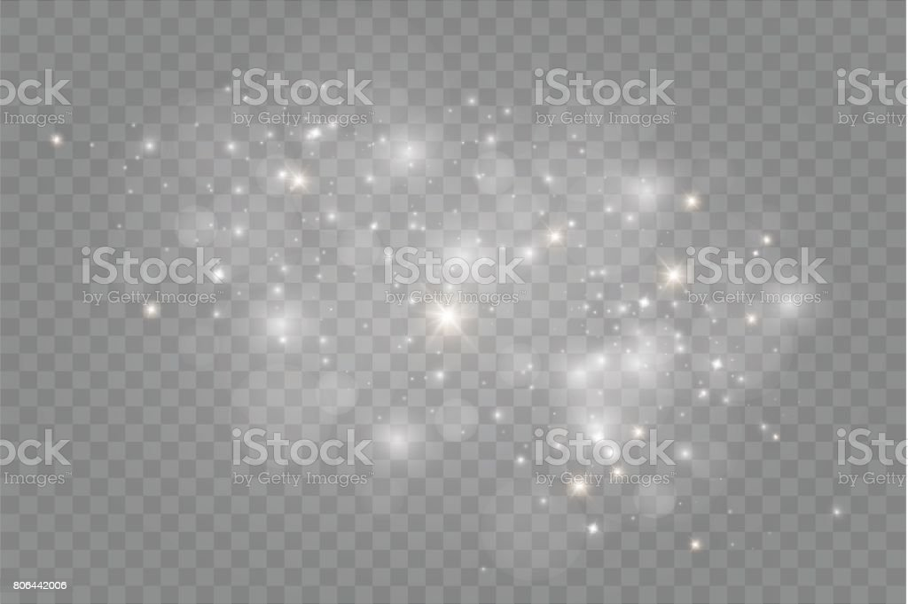 Dust on a transparent background.bright stars.The glow lighting effect royalty-free dust on a transparent backgroundbright starsthe glow lighting effect stock illustration - download image now