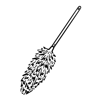 Duster with long handle for cleaning