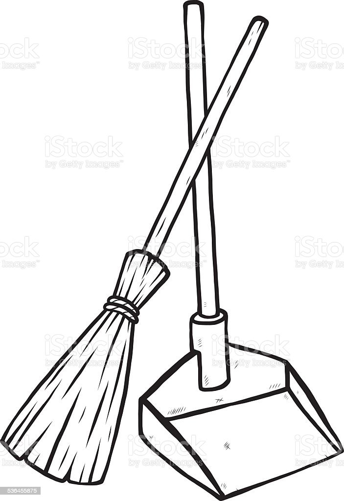 Dustpan And Broom Stock Vector Art & More Images of 2015 ...