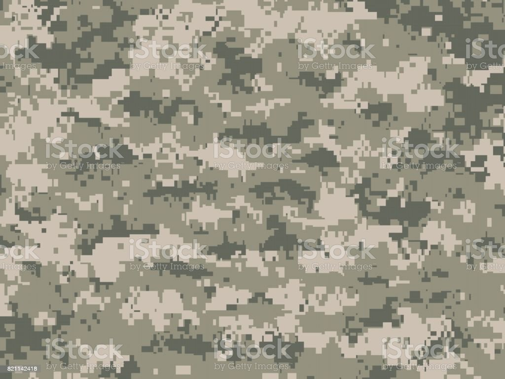 Dusty green camouflage texture vector art illustration