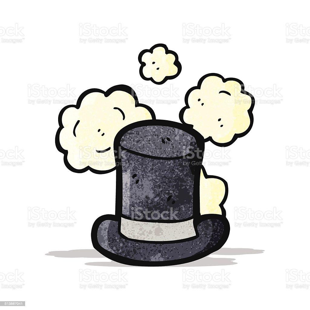 dusty vecchio Cappello a cilindro Fumetto dusty vecchio cappello a cilindro  fumetto - immagini vettoriali stock 6983a7ef95fb