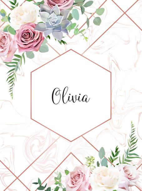 塵土飛揚的粉紅色, 乳白色的古色古香的玫瑰, 多汁的雪佛蘭, 蒼白的花 - 淺粉色 幅插畫檔、美工圖案、卡通及圖標