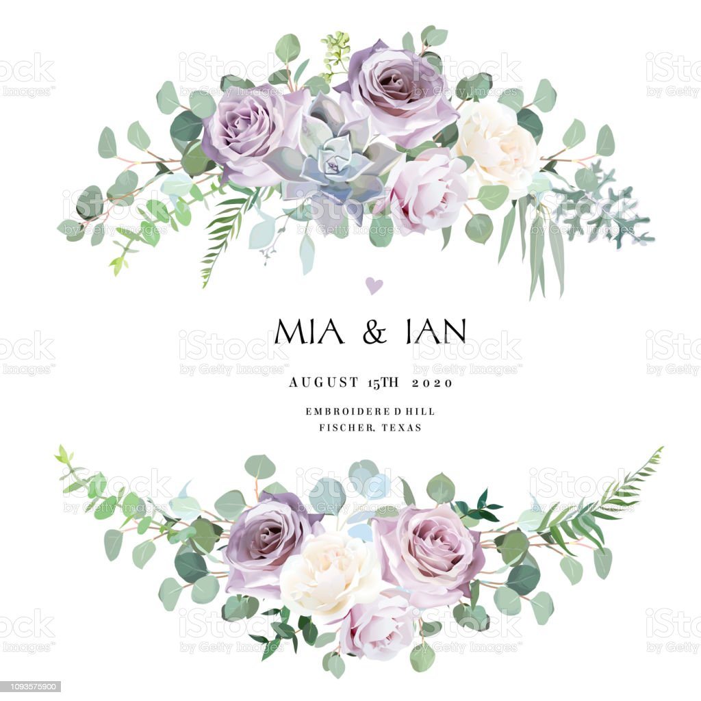 Dusty violet lavender,creamy and mauve antique rose, purple pale flowers royalty-free dusty violet lavendercreamy and mauve antique rose purple pale flowers stock illustration - download image now