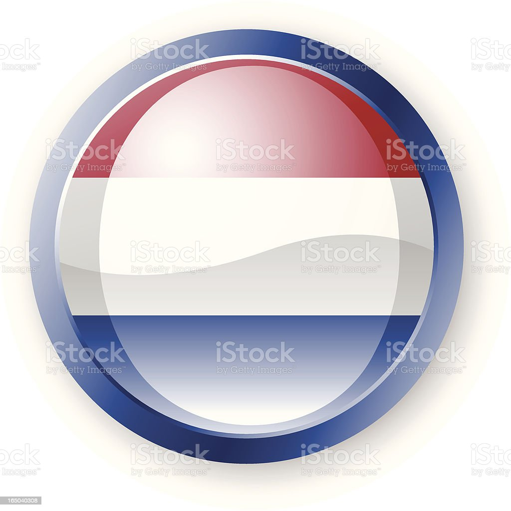 Dutch Flag Icon royalty-free stock vector art