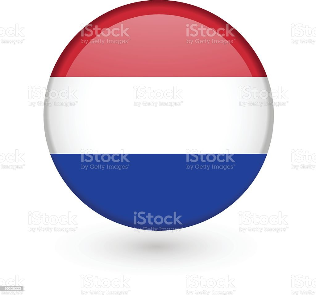 Dutch flag vector button royalty-free dutch flag vector button stock vector art & more images of badge