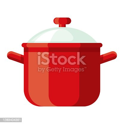 istock Dutch Oven Icon on Transparent Background 1283404351