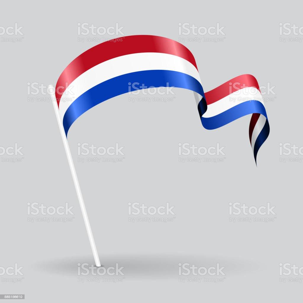 dutch wavy flag vector illustration stock vector art 585156610