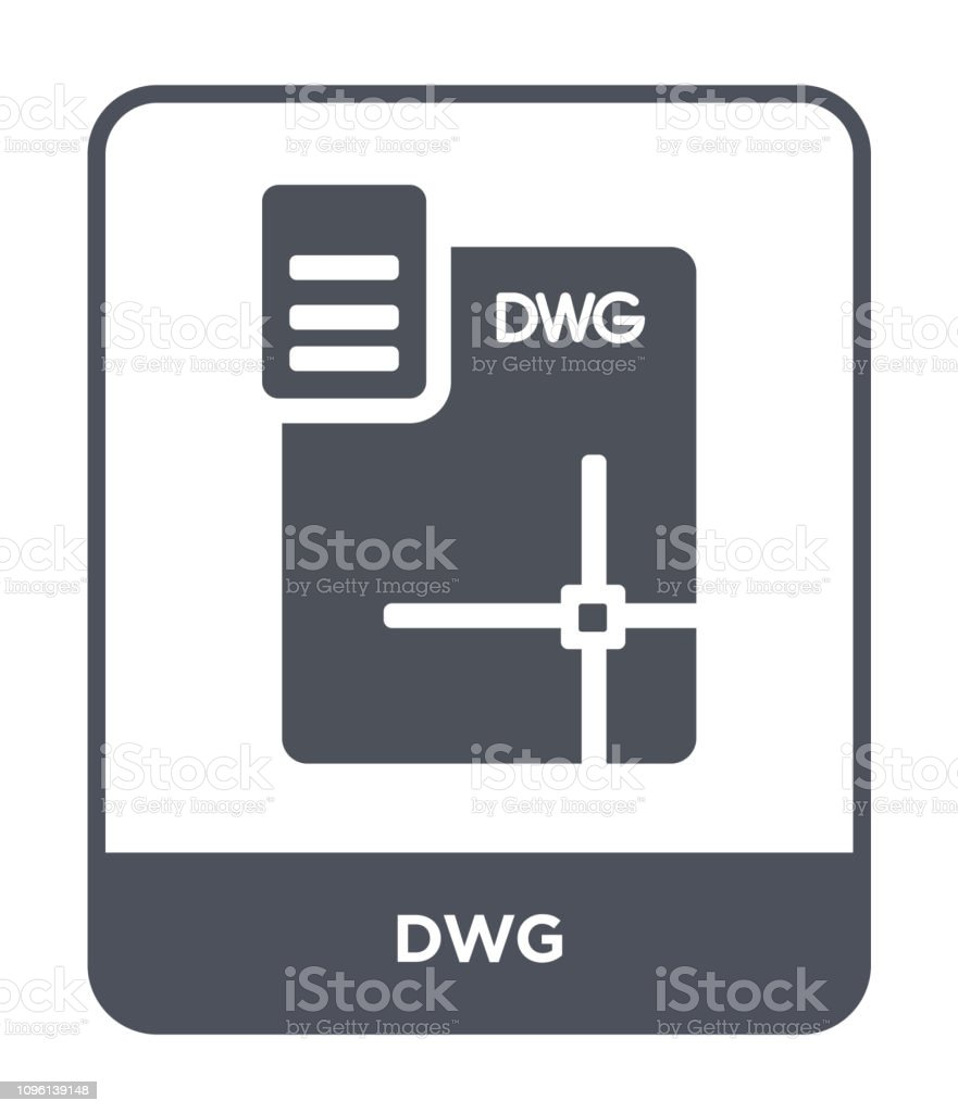 dwg icon vector on white background, dwg trendy filled icons from File type collection vector art illustration