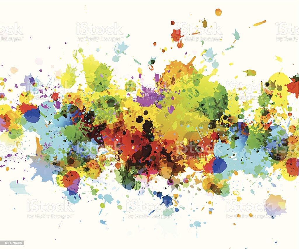 Dye splashes vector art illustration