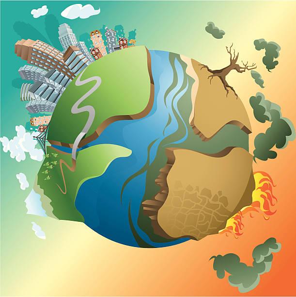 bildbanksillustrationer, clip art samt tecknat material och ikoner med dying earth - climate change