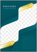 blank brochure template with image space