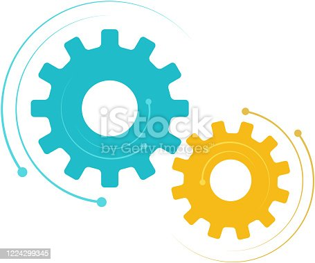 synchronized movement of cogs design element