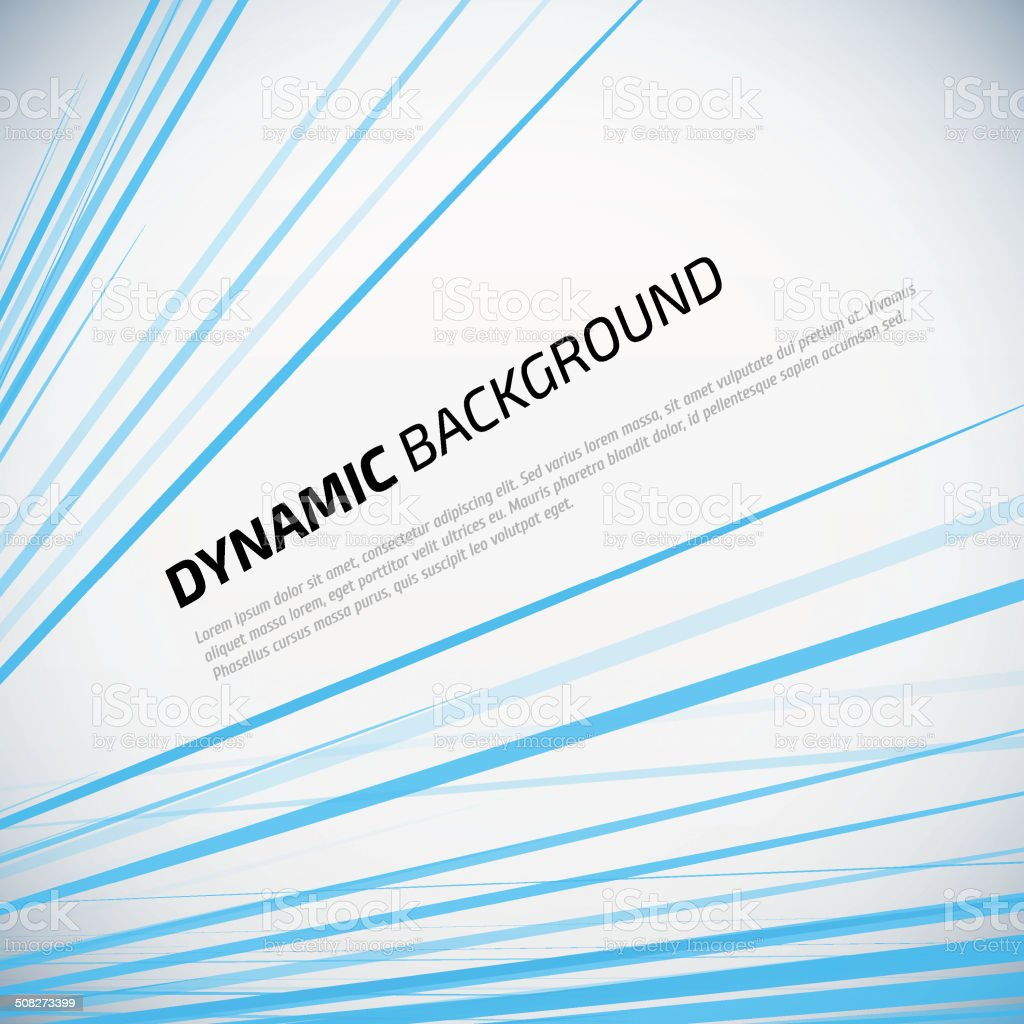 Dynamic colorful stripes. Blue Vector abstract background. vector art illustration