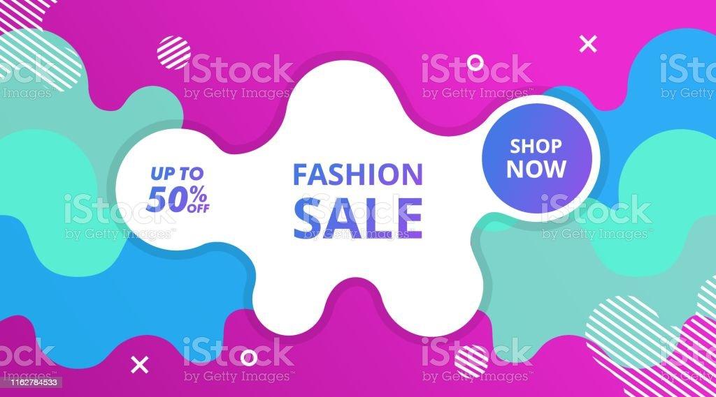 Dynamic Modern Fluid Background Promotion Fashion Banner, Flyer,...