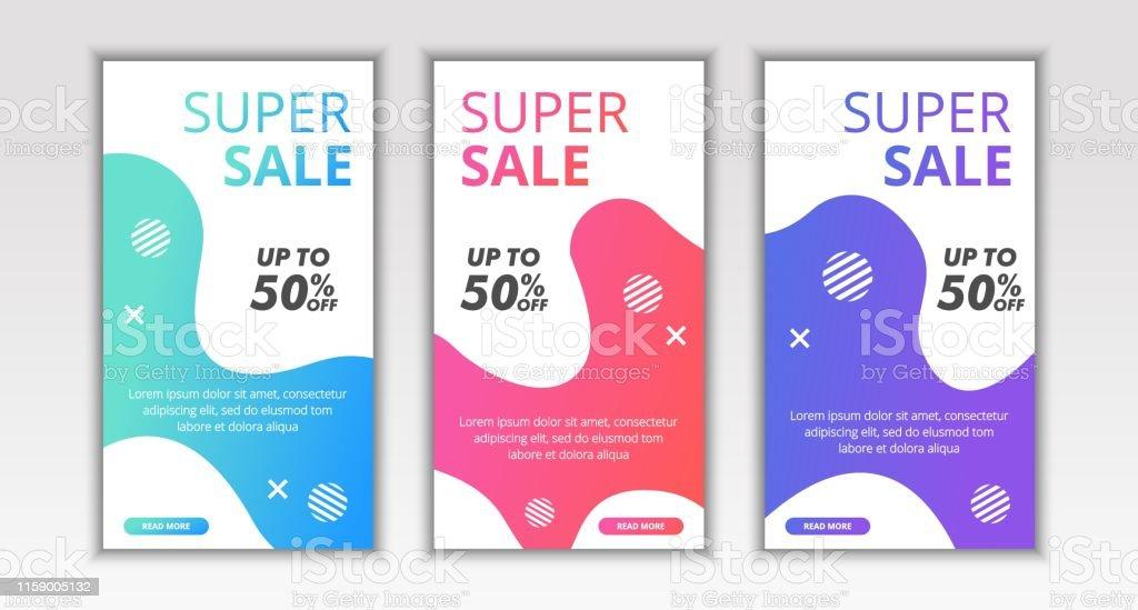 Dynamic Modern Fluid Mobile Flash Sale Banner Template