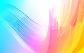 Dynamic digital gradient future wave, abstract modern banner, color splash, trend presentation, music poster, flyer. Vector illustration