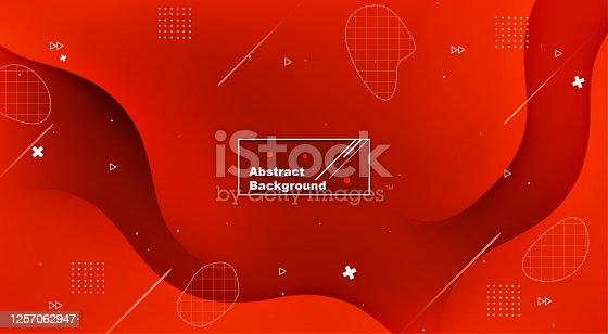 Dynamic red Abstract background with fluid shapes modern concept