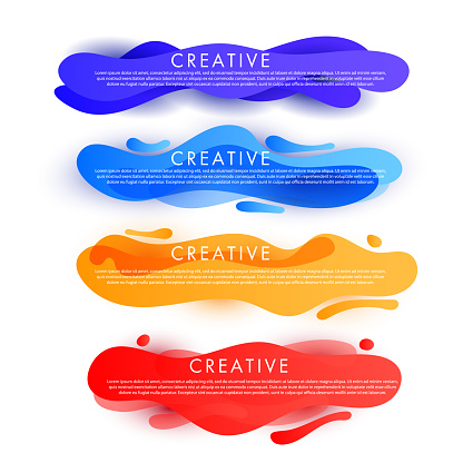 Dynamic texture design sale discount banner template with wave liquid shape
