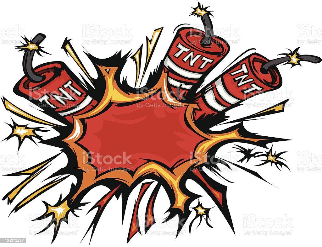 Dynamite Explosion Cartoon Vector Illustration vector art illustration