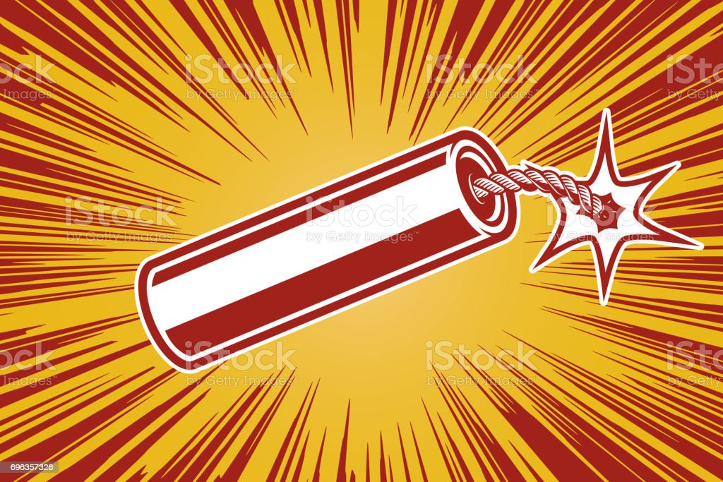 dynamite in comic book style. Design element for poster, flyer. Vector illustration vector art illustration