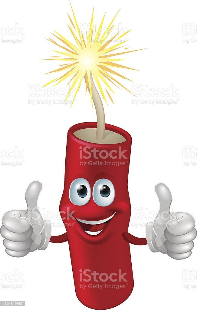 Dynamite or firecracker man vector art illustration