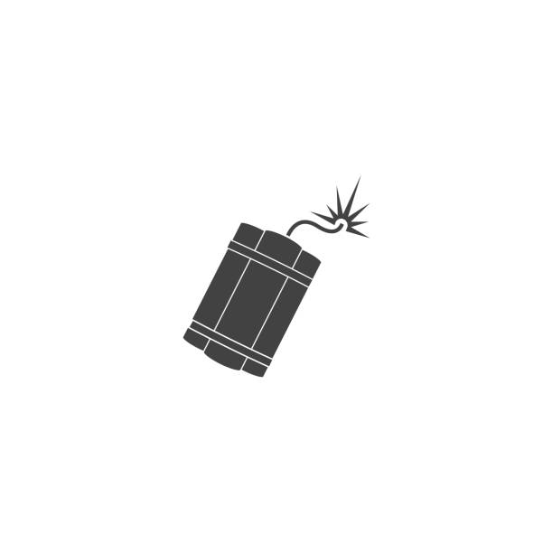 Dynamite vector icon on white isolated background. Layers grouped for easy editing illustration. For your design. Dynamite vector icon on white isolated background. Layers grouped for easy editing illustration. For your design. explosive fuse stock illustrations