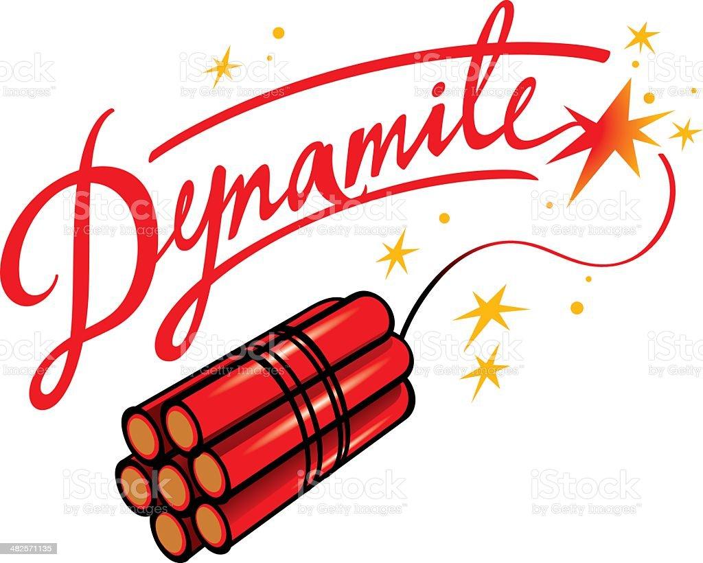 Dynamite vector art illustration