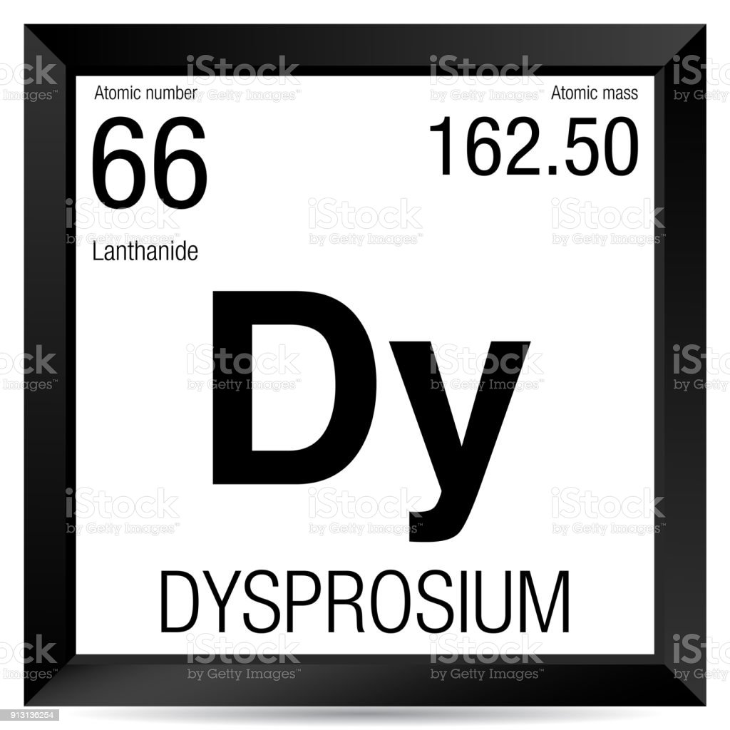 Dysprosium Symbol Element Number 66 Of The Periodic Table Of The