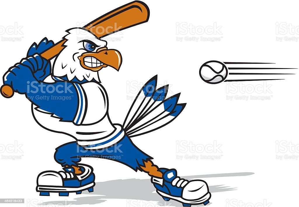 Eagle About to Bat the Ball royalty-free stock vector art