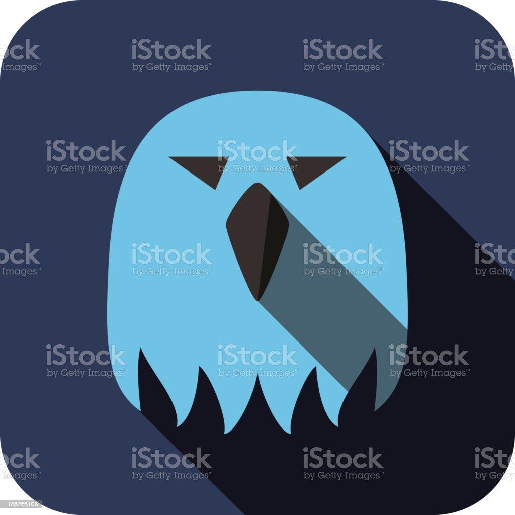 eagle bear face flat icon design. Animal icons series. royalty-free stock vector art