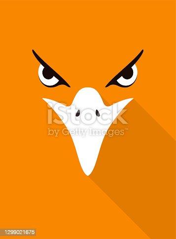istock eagle bear face flat icon design. Animal icons series, vector illustration 1299021675