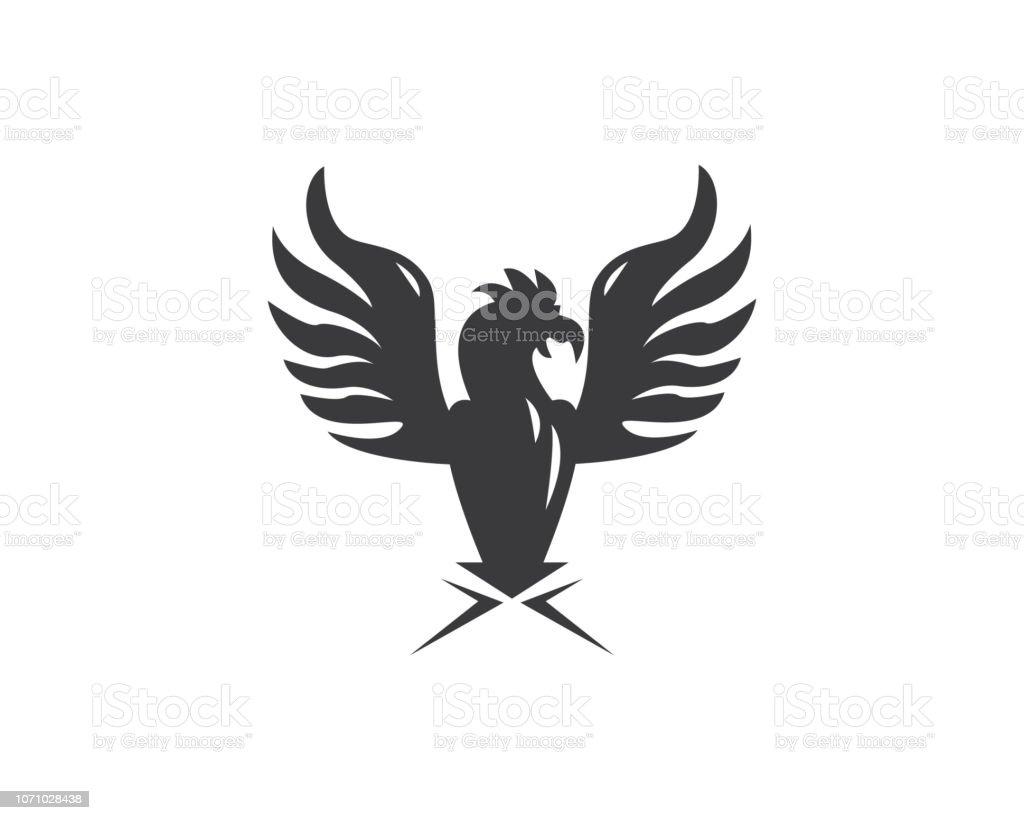 Eagle Bird Logo Template Vector Stock Illustration